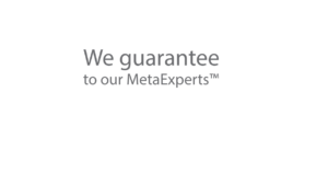 We guarantee to our MetaExperts
